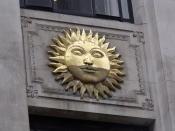 Sun Building - 9 Bennetts Hill, Birmingham - sun sculpture