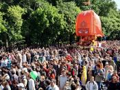 English: ISKCON Ratha Yatra festival in Moscow