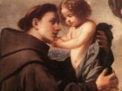 English: Anthony of Pedua with child Jesus