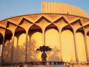 English: Tehran, Iran: City Theatre. Pahlavi era architecture.