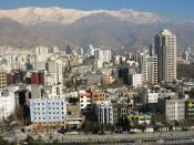 Northern Tehran City with Alborz Mountains in the background, Iran.