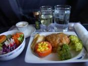 First class dinner on Continental