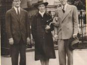 Robert Lowell, Jean Stafford and Peter Taylor in 1941 in front of The Presbytere at Jackson Square in New Orleans.