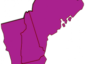 English: Map of same-sex marriage rights in New England