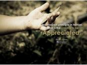 William James the deepest principle in human nature is the craving to be appreciated