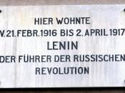 Zürich, Spiegelgasse 14 : Memorial plate at the former home (21st Febr. 1916 - 2nd April 1917) of Wladimir Iljitsch Uljanow Lenin (* 1870; † 1924).