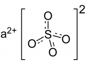 Chemical structure of barium sulfate