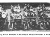 English: Franklin Automobile Company female employees