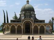 Church of the Beatitudes , the traditional location for the Sermon on the Mount