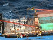 Panamanian motor vessel Gatun during the largest drug bust in United States Coast Guard history (20 tons of cocaine) off the Coast of Panama