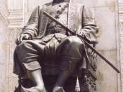 Statue of King Jessadabodindra (Rama III), the King fought massive wars against Cambodia and Vietnam.