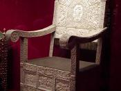 English: The ivory throne of Tsar Ivan IV The Terrible of Russia.