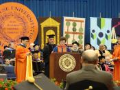 Billy Joel receiving an Honorary Doctorate of the Fine Arts from Syracuse University