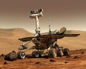 English: Artist's rendering of a Mars Exploration Rover. Français : Vue d'artiste d'un Mars Exploration Rover (litt. « rover d'exploration martienne »).