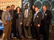 Main Cast of NYPD Blue Season 3, l-r Turturro, Smits, Delaney, McDaniel, Miceli, Clapp, Franz