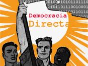 Español: Cartel político a favor de la democracia directa digital o electrónica. Chi-Chewa: Political poster demanding a Digital Direct Democracy.