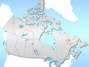 Province layout of Canada