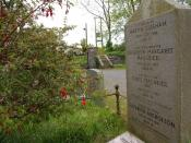 English: The grave of Louis Macneice near Carrowdore See 309974. This is the grave of the poet, Louis Macneice 324837.