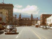 Hi-res Kodachrome of downtown Colorado Springs, 1951.