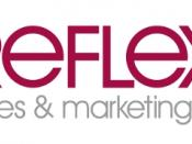 English: The company logo of Relfex Sales & Marketing Ltd.