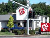 English: A Jack in the Box fast food restaurant in Willits, next to the junction of U.S. Route 101 and State Route 29.