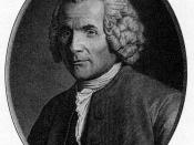 English: A portrait engraved for a posthumous edition of Rousseau's works, after an original by Angelique Briceau.