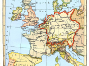 New version of Map of Western Europe in the Time of Charles V (1525)