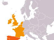 Western Europe according to CIA World Factbook, including Southwestern Europe distinction