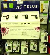 Français : Affichage des produits prépayés Telus Mobilité chez Zellers.