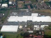 Aerial view of Intel plant in Costa Rica