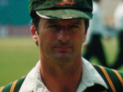 Stephen Rodger Waugh, former professional cricketer and captain of the Australian national team, photographed at the Sydney Cricket Ground at the start of the Test match against South Africa in January 2002