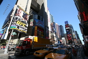 New York City Times Square ad for UFC 88: Breakthrough featuring Chuck Liddell vs. Rashad Evans