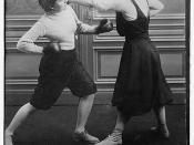 Mrs. Edwards & Frl. Kussin [boxing]  (LOC)