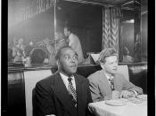 [Portrait of Charlie Parker, Red Rodney, Dizzy Gillespie, Margie Hyams, and Chuck Wayne, Downbeat, New York, N.Y., ca. 1947] (LOC)