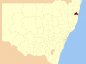 Location of the LGA in New South Wales