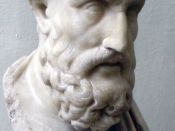 Bust of Epicurus, from the Pergamon Museum, Berlin.