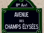 English: Street sign of the Avenue des Champs-Élysées in the , France.