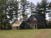 Dinesen House historic log cabin
