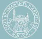 Logo of the Permanent Court of Arbitration, an intergovernmental organization based in The Hague in the Netherlands, established in 1899.