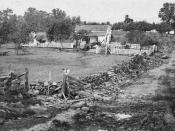 English: Gettysburg, Pa. Headquarters of Gen. George Meade on Cemetery Ridge.