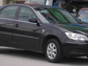 Front-side shot of a fifth generation Toyota Camry, in Serdang, Selangor, Malaysia.