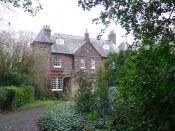 English: Thomas Hardy Locations, Max Gate Hardy designed and built this house for himself in 1885 and lived there until his death in 1928. At this villa, Thomas Hardy wrote some of his greatest works including The Woodlanders, Tess of the d'Urbervilles, J