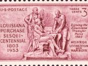 English: Postage stamp, 1953 Issue, Louisiana Purchase