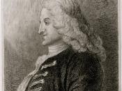 English: Henry Fielding circa 1743 etching from Jonathan Wild the Great.