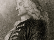 English: Portrait sketch of Henry Fielding