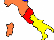 Map of Italy in 1860 AD
