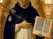 Saint Dominic (1170-1221), portrayed in the Perugia Altarpiece by Fra Angelico. Galleria Nazionale dell'Umbria, Perugia. Dominic saw the need for a new type of organization to address the needs of his time, one that would bring the dedication and systemat
