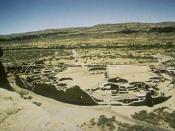 Archaeological site at Chaco Canyon, one of the principal sites of Anasazi culture.