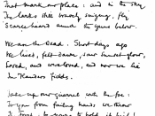 Facsimile of handwritten version of McCrae's