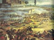 Charge of the Mexican Cavalry at the Battle of Puebla